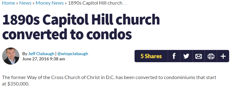WTOP - 1890s Capitol Hill church converted to condos