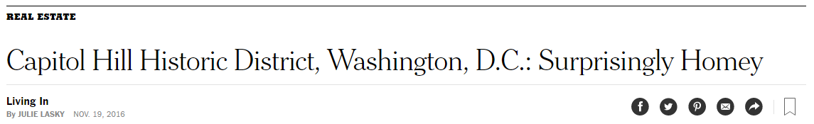 NY Times Re. Capitol Hill